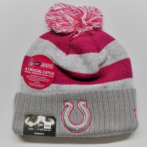 New Era Colts NFL Breast Cancer Awareness Knit Hat 920f17498f2